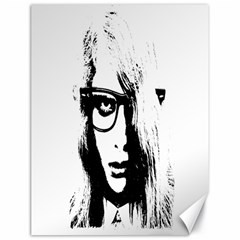 Hipster Zombie Girl Canvas 18  X 24  (unframed)
