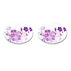 Floral Garden Cufflinks (oval) by Colorfulart23
