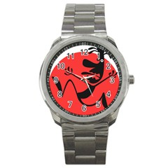 Running Man Sport Metal Watch