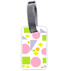 Spring Geometrics Luggage Tag (two Sides) by StuffOrSomething