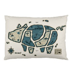 Map of the Swine Islands Pillow Case (Two Sides)