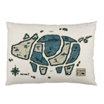 Map of the Swine Islands Pillow Case (Two Sides) Back