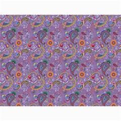 Purple Paisley Canvas 12  X 16  (unframed)