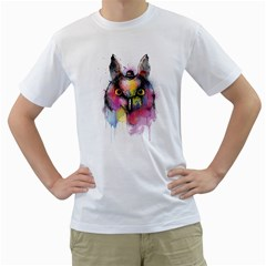 Mr Owl Men s T-Shirt (White)  by Contest1836099