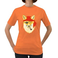 Foxy Pirate Women s T Shirt (colored) by Contest1836099