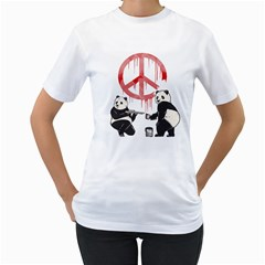 Pandalism 2 Peace Sign Women s T Shirt (white)  by Contest1836099