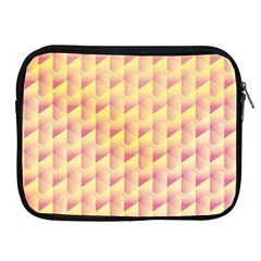 Geometric Pink & Yellow  Apple Ipad Zippered Sleeve by Zandiepants