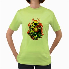 Despicable Avengers Women s T Shirt (green)