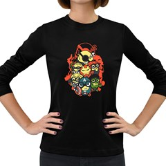 Despicable Avengers Women s Long Sleeve T Shirt (dark Colored) by Contest1736614