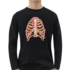 Blossoms Ribs Men s Long Sleeve T-shirt (Dark Colored) by Contest1753604