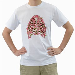 Blossoms Ribs Men s T-Shirt (White)  by Contest1753604