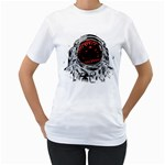 Trouble In the Space Women s T-Shirt (White)  Front