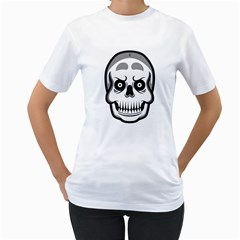 Skull Smile Women s T Shirt (white)  by Contest1915162