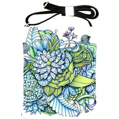 Peaceful Flower Garden Shoulder Sling Bag by Zandiepants