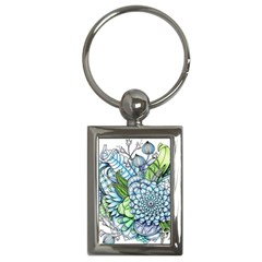 Peaceful Flower Garden 2 Key Chain (rectangle) by Zandiepants