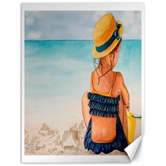 A Day At The Beach Canvas 18  X 24  (unframed)