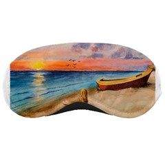 Alone On Sunset Beach Sleeping Mask by TonyaButcher