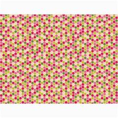 Pink Green Beehive Pattern Canvas 18  X 24  (unframed)