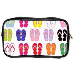 Flip Flop Collage Travel Toiletry Bag (Two Sides) by StuffOrSomething