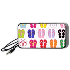 Flip Flop Collage Portable Speaker (black)