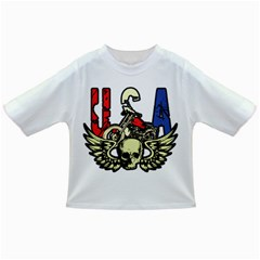 USA Classic Motorcycle Skull Wings Infant/Toddler T-Shirt by creationsbytom