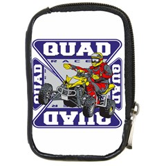 Quad Racer Compact Camera Leather Case by MegaSportsFan