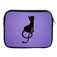 Purple Gracious Evil Black Cat Apple Ipad Zippered Sleeve by CreaturesStore