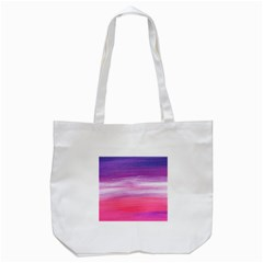 Abstract In Pink & Purple Tote Bag (white) by StuffOrSomething
