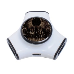 Skull Poster Background 3 Port Usb Hub
