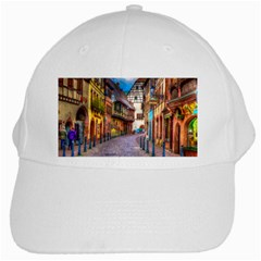 Alsace France White Baseball Cap by StuffOrSomething