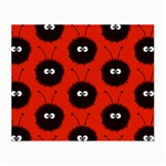 Red Cute Dazzled Bug Pattern Glasses Cloth (Small, Two Sided) Front
