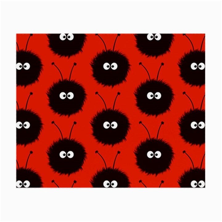 Red Cute Dazzled Bug Pattern Glasses Cloth (Small, Two Sided)