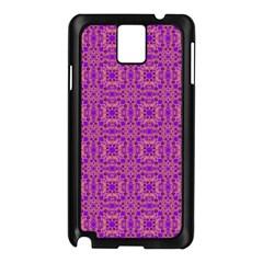 Purple Moroccan Pattern Samsung Galaxy Note 3 N9005 Case (black)