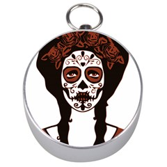 Day Of The Dead Silver Compass by EndlessVintage