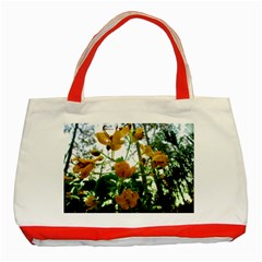 Yellow Flowers Classic Tote Bag (red)