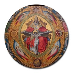 Cologne Cathedral   Altar Of The Poor Clares 8  Mouse Pad (round) by stineshop