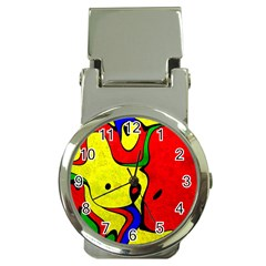 Abstract Money Clip With Watch