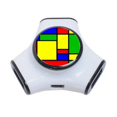Mondrian 3 Port Usb Hub by Siebenhuehner