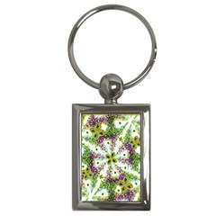 Neo Noveau Style Background Pattern Key Chain (rectangle) by dflcprints