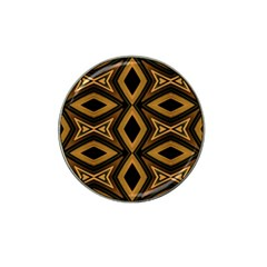 Tribal Diamonds Pattern Brown Colors Abstract Design Golf Ball Marker (for Hat Clip) by dflcprints