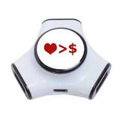 Love Is More Than Money 3 Port Usb Hub