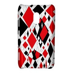 Distorted Diamonds In Black & Red Nokia Lumia 620 Hardshell Case by StuffOrSomething