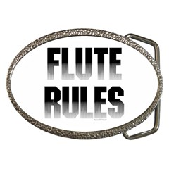 Flute Rules Belt Buckle (oval) by NotJustshirts