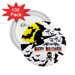 Happy Halloween Collage 2.25  Button (100 pack) by StuffOrSomething