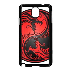 Yin Yang Dragons Red And Black Samsung Galaxy Note 3 Neo Hardshell Case (black) by JeffBartels