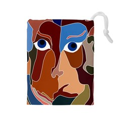 Abstract God Drawstring Pouch (large) by AlfredFoxArt