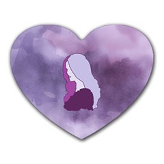 Profile Of Pain Mouse Pad (Heart) by FunWithFibro