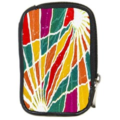 Multicolored Vibrations Compact Camera Leather Case by dflcprints