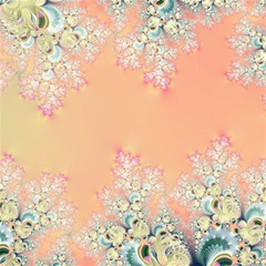 Peach Spring Frost On Flowers Fractal Canvas 16  X 16  (unframed) by Artist4God