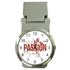 Passion And Lust Grunge Design Money Clip With Watch